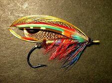 "3.25"" Fully Dressed golden phesant Salmon fly art Sticker. Fly tying fishing"