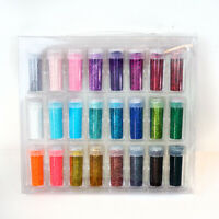 Fine Glitter Set 24 Jars and Storage Case 25 Gram per Bottle .35 oz