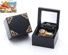♫ Winnie The Pooh  ♫   Classic Black Square Music Box