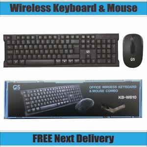CS W610 2.4Ghz Wireless Combo Keyboard And Mouse Bundle Set PC Laptop UK Layout