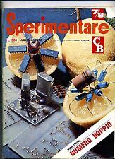 SPERIMENTARE#N.7/8 Luglio-Agosto 1976#Rivista Mensile Elettronica Elettrotecnica