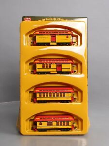 Roundhouse 84301 HO RTR 34' Old Time Overton Passenger Set, SF (4) LN/Box