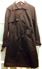 VGC H&M SMART MILITARY STYLE BLACK TRENCH/MAC COAT SIZE 42