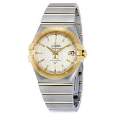 Omega Constellation Automatic Siver Dial Steel and 18kt Yellow Gold Mens Watch