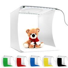 DOUBLE LEDS LIGHT ROOM PHOTO STUDIO BOX MINI LIGHTING TENT KIT WITH 6 BACKDROP