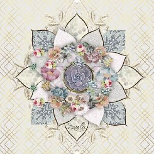 20 Paper Party Napkins Romee Pack of 20 3 Ply floral Tissue Serviettes