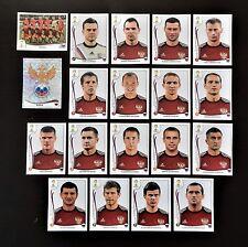 Panini FIFA World Cup Brazil 2014 Complete Team Russia + Foil Badge