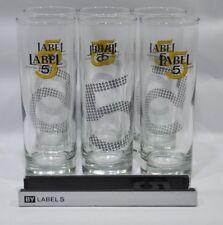 LABEL 5 scotch whisky 6 verres tube nouveau logo + pince à glaçons NEUF