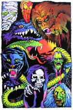 NIGHTMARE CHARACTERS - BLACKLIGHT POSTER - 24X36 FLOCKED HORROR SCARY 52858