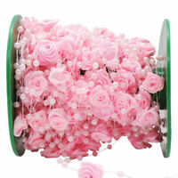 5m Rose Pearls Chain Garland DIY Party Favor Bride Bouquet Wedding Decoration