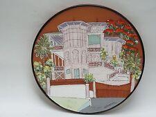 RARE FOLK ART Pottery Plate by de Vendegies Haiti