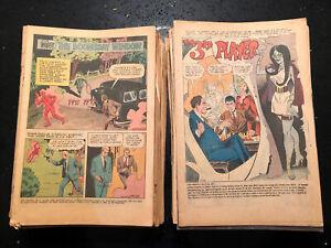 51 vintage 1960/70s  NO COVER COMICS low grade Charlton/ Dell / Marvel /