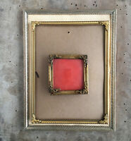 9.6x7.2 inches Vintage Photo Frames Gold Silver Danish Brass NO Glass Farmhouse