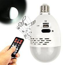 E27 White 24 LED Light Bulb Lamp Mini Speaker FM TF Card USB Music MP3 Player