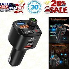 Nulaxy Bluetooth 5.0 FM Transmitter For Car, QC3.0 & Type-C PD 18W Wireless