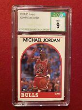 1989-90 HOOPS MICHAEL JORDAN #200 CSG MT 9