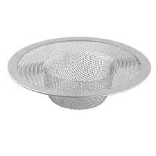 New Silver Kitchen Basket Drain Garbage Stopper Metal Mesh Sink Strainer  LW
