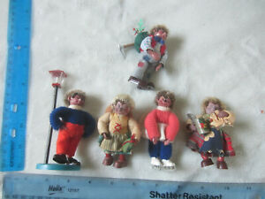 Vintage Steiff Hedgehog Peter Mecki Mohair Germany Lot of 5 Figurines