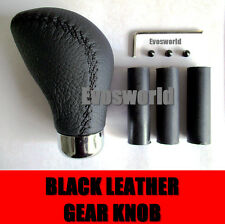 BLACK LEATHER CAR GEAR SHIFT LEVER KNOB FORD KA HATCHBACK