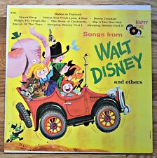 Songs From Walt Disney & Others Lp Record Circa 1960's Happy Time
