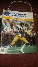 Vintage 1983-1984 SAN DIEGO CHARGERS NFL FOOTBALL SCHEDULE CALENDAR Mint
