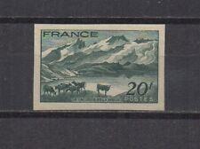 France : n° 582 a (Lac Lérié et la Meije). Non dentelé. **. Cote 75 €. Signé.