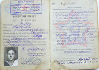 Soviet Russian Army Soldier Driver Military RKKA Book Document ID 1962