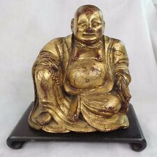 VINTAGE CARVED GILDED  BUDDHA WITH HIDDEN COMPARTMENT