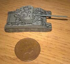 Small thin card Sherman Firefly tank WW2 1970s roughly N Gauge 40mm long