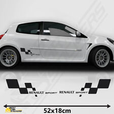 Fits Renault Sports Side Racing Stripes Decal Graphics Tuning Car Clio Cup