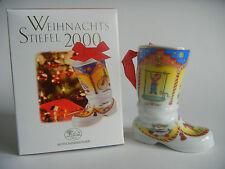 Hutschenreuther weihnachts-stiefel 2000 Christmas Boot (My Item no. 2000-1)