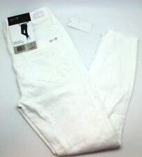 Seven7 Womens Solid White High Rise Ankle Skinny Jeans Size 10