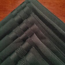 """Set of 6 FOREST GREEN Table Linens Fabric Polyester Woven 17"""" Napkins CHRISTMAS"""