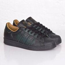 Very Rare 2013 Men's Adidas Blackest Dark Green Leather Superstar 80's Size 9