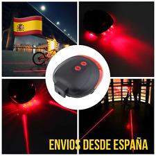 Luz Trasera Láser Para Bicicleta 2 Láser y Luces LED 7 Funciones