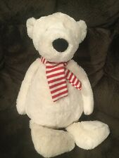 Jellycat Pax Polar Bear Scarf Huge Plush Stuffed Animal Cheery Christmas 20in