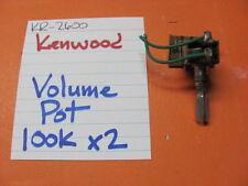 KENWOOD VOLUME POT 100K x2 KR-2600 STEREO RECEIVER