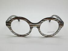 NEW ALAIN MIKLI A03030 B0E4 Clear/Brown/Black Striped 48mm RX Eyeglasses
