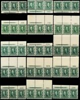 300, Collection of 40 Mint PL# & Imprint Strips Cat $1,800.00 - Stuart Katz