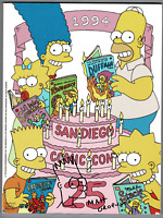 Matt Groening signed autographed SDCC program! RARE! AMCo Authenticated!
