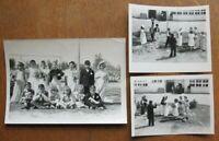 Vtg 1940s Strange Child Children Wedding Bride Marriage School Play Photos Lot 3