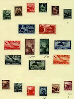 Italy 1945 range of postage and air issues to include 25L sg666, 50L sg66 Stamps