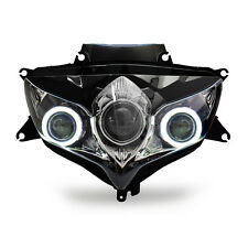 KT LED Angel Eye Projector Headlight Assembly for Suzuki GSX-R600 2008-2010White