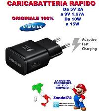 CARICABATTERIA RAPIDO ORIGINALE SAMSUNG GALAXY S6 S6 EDGE S7 S7EDGE NOTE 5 NERO