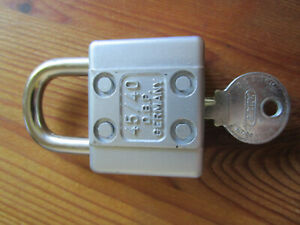 Seltenes Vorhängeschloss - Bügelschloss - ABUS-45/40 D.B.P. mit 1 Schlüssel