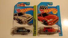 2 Hot Wheels '90 Honda Civic EF Zamac & new model   Walmart  Hard To Find lot
