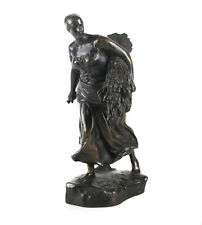 Aime Jules Dalou 1838-1902 Patinated Bronze Statuette En Moisson The Harvest