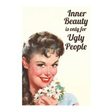"""Retro Humour """"Inner Beauty"""" Greetings Card Birthday Gift Occasion Funny"""