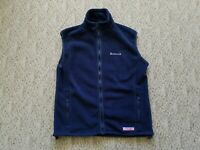 EUC Vineyard Vines Men's Full Zip Fleece Vest Color Blue Size Small S Hike Camp
