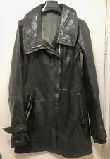 **SUPER RARE** CAROL CHRISTIAN POELL BLACK LEATHER COAT Size 44